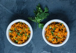 Carrot Slaw with Ginger, Jalapeno, and Lime ~ Gajar nu Salad