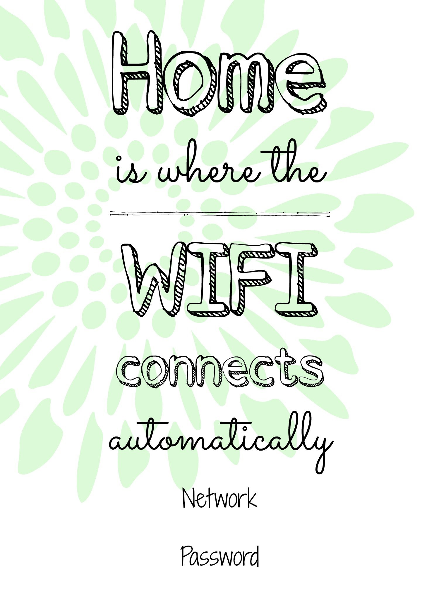 photo relating to Wifi Password Printable known as No cost printable Wifi indicator, visitor area strategies.