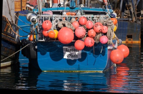 Boats and buoys in Oban