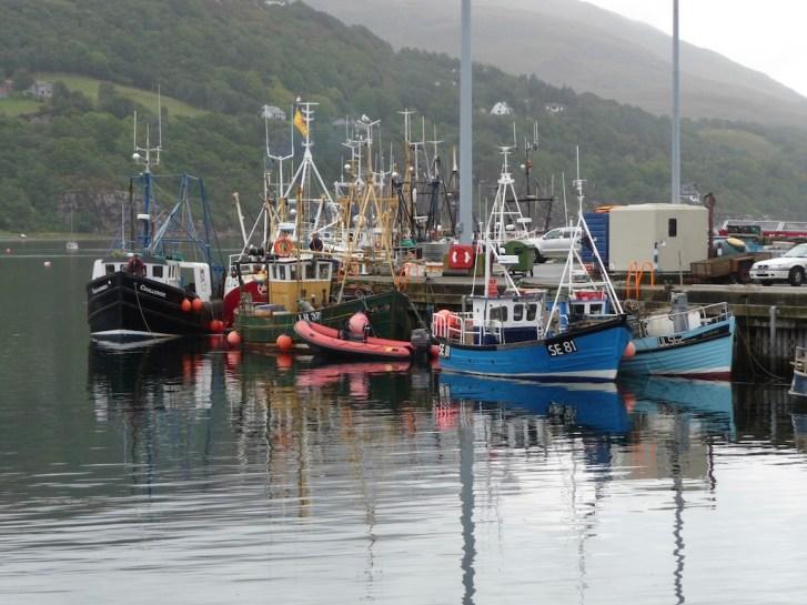 Fishing boats at Ullapool
