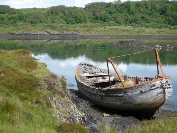 Wreck at Puilladobhrain on Seil Island