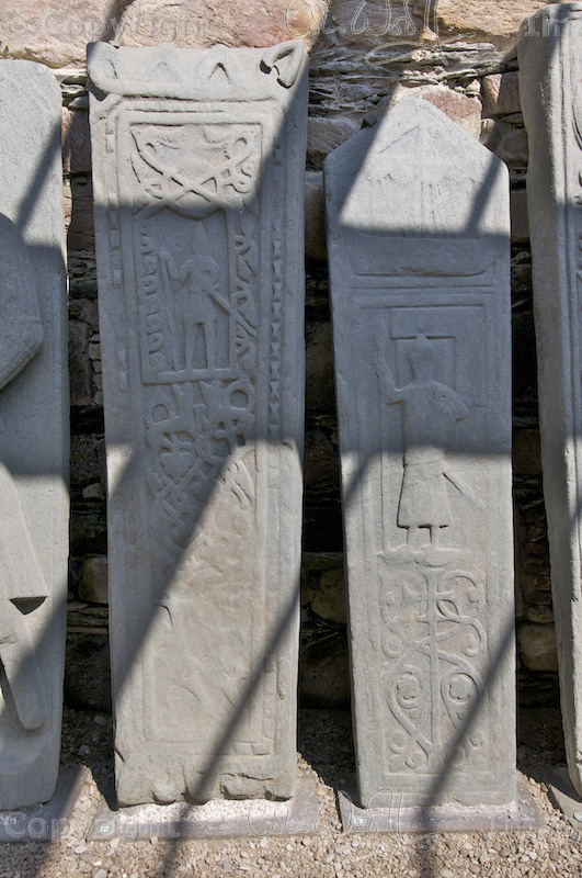 Kilmory Knap Chapel - grave stones (1)
