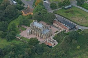 Aerial view, courtesy Rosslyn Chapel
