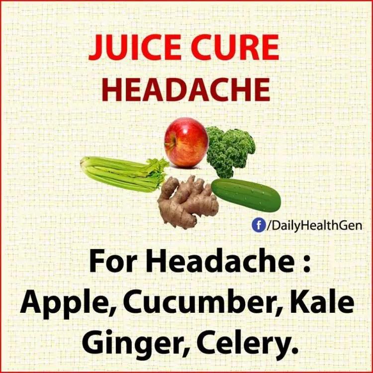 juice cure headache