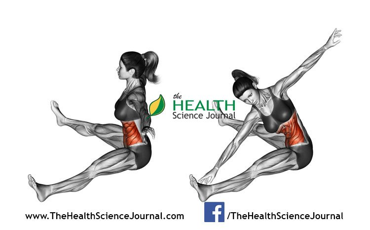 © Sasham | Dreamstime.com - Fitness exercising. Rotation spins to the slopes of sitting. Female
