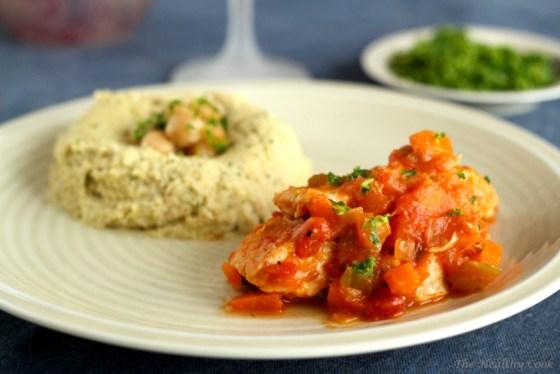 Skinny Osso Bucco Chicken with Chickpea Puree – Ελαφρύ Κοτόπουλο Όσομπούκο με Πουρέ Ρεβιθιών
