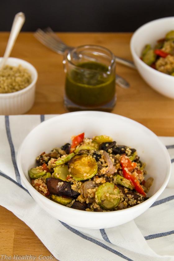 Grilled-Veggie-Salad-with-Quinoa – Σαλάτα-με-Ψητά-Λαχανικά-και-Κινόα