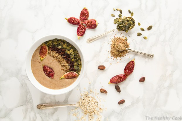 Vegan Roasted Fig Smoothie Bowl – Smoothie Bowl με Ψητά Σύκα