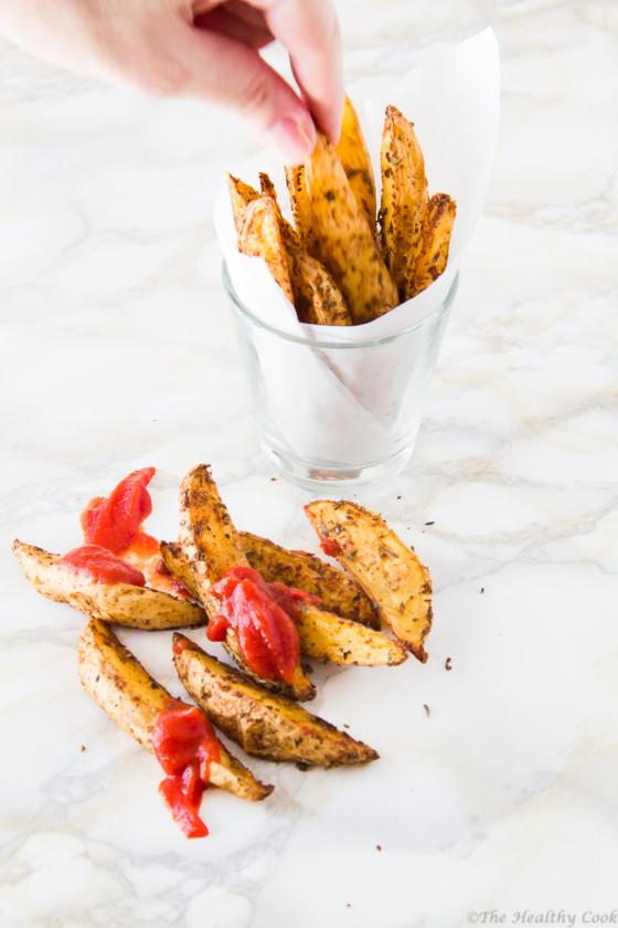 "Cajun-Spiced-Oven-""Fries"" – Πικάντικες-""Τηγανιτές""-Πατάτες=στον-Φούρνο"