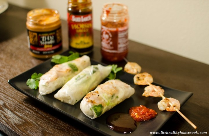 Grilled Shrimp Spring Rolls