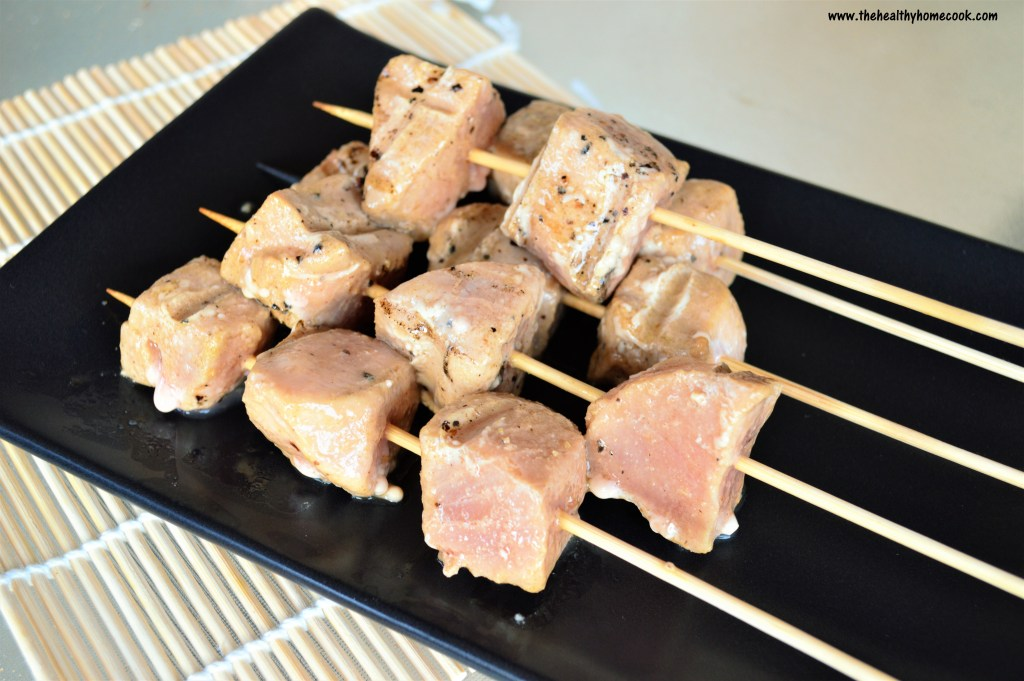 These healthy Grilled Tuna Skewers take just minutes to prep and cook.