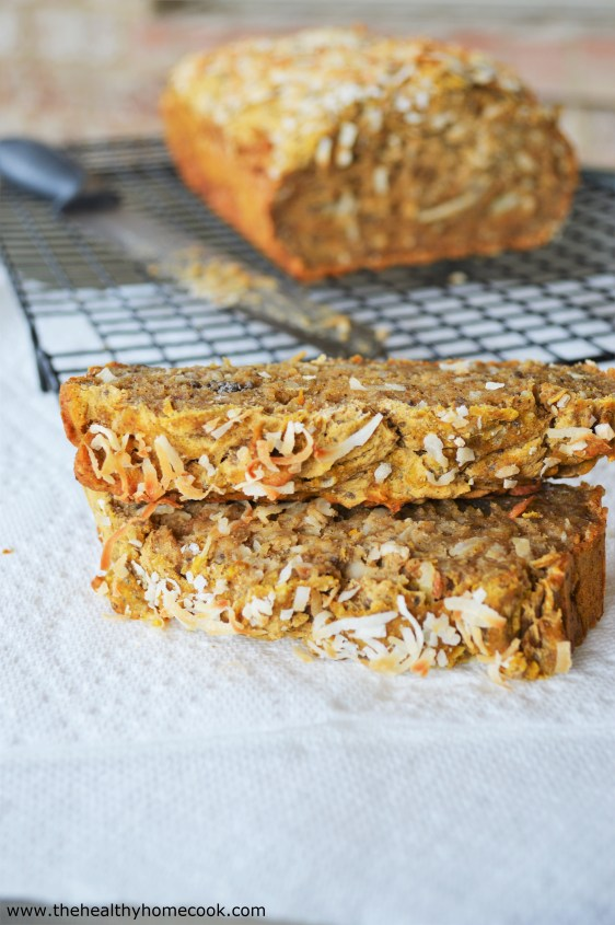 This Pumpkin Coconut Banana Sticky Bread, is soft, sticky, and just sweet enough to keep you coming back for more