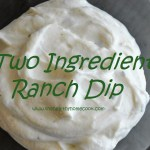 Two Ingredient Ranch Dip