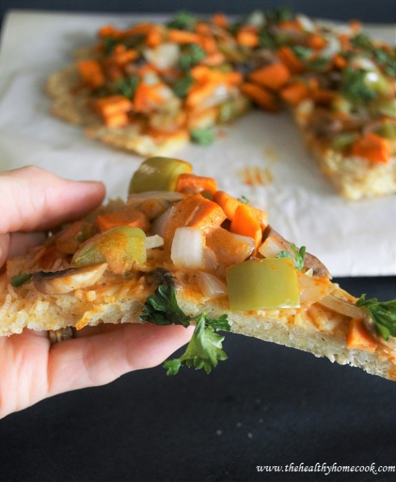 Watch out world, this Vegetable Curry Pizza with Basmati Rice Crust is the new favorite pizza in town.