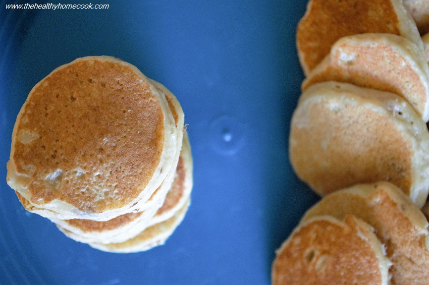 These Baby Pancakes are light, fluffy and perfect for little fingers.