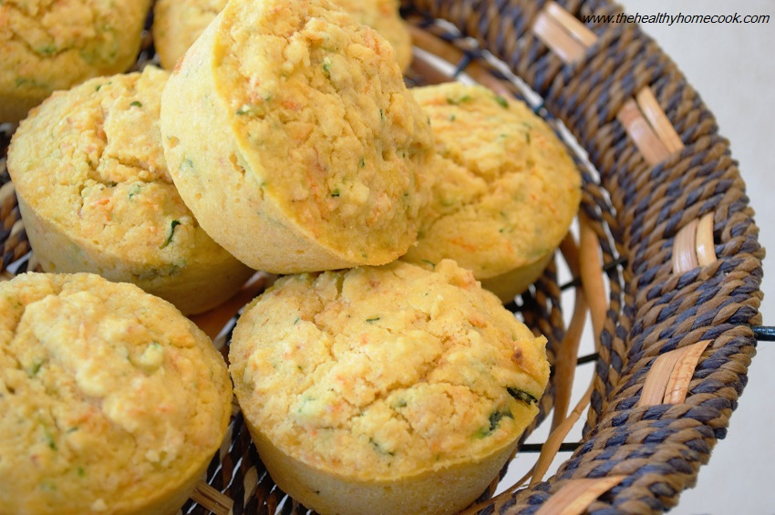 These soft and loaded Zucchini Carrot Cornbread Muffins are irresistible.