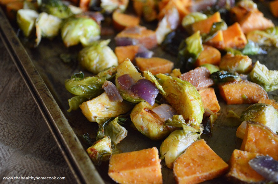 Spread the love of brussels sprouts with this Brussels Sprout & Sweet Potato Hash.