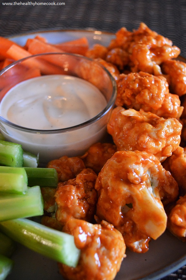 If you are planning on having a football party anytime soon, you can't do it without these Buffalo Cauliflower Bites.