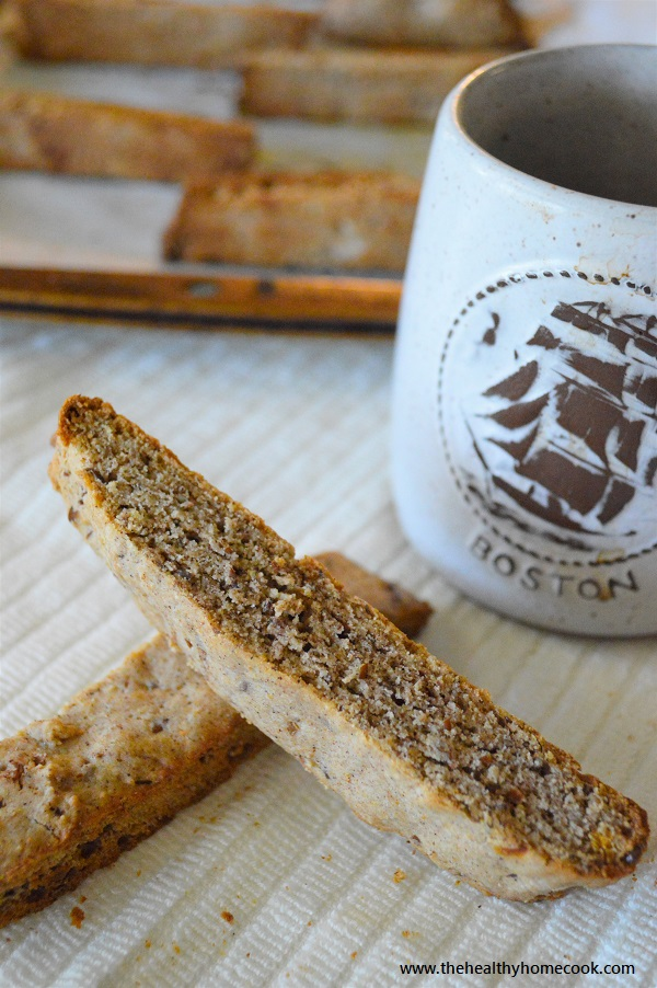 It's the perfect time of year to curl up with a warm cup of coffee and one of these delicious {Gluten Free} Pumpkin Spice Biscottis. Enjoy!