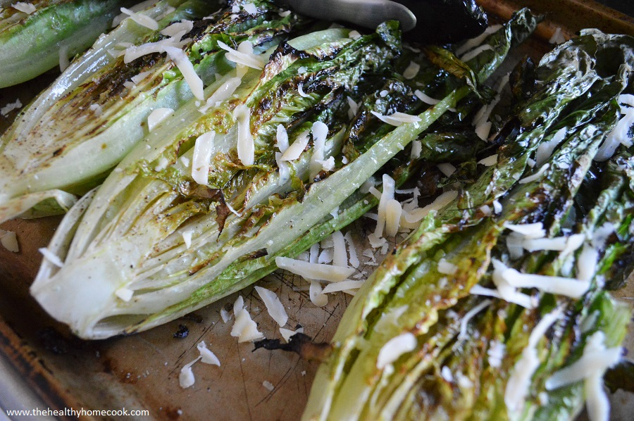 Trust me, you will be glad you didn't put your grills away once you try this Grilled Romaine Salad.
