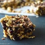Chocolate Covered Cherry Granola Bars