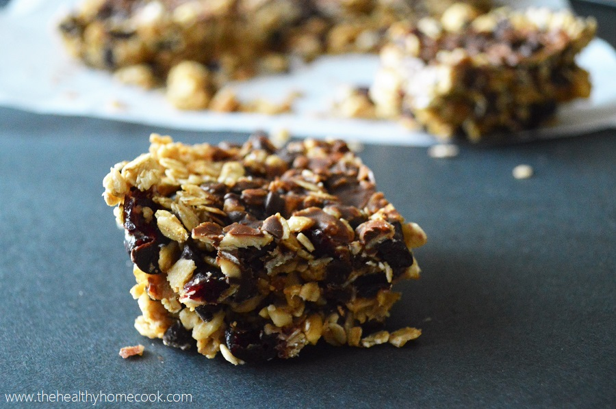 Who said you have to give candy or stuffed teddy bears to your sweetheart on Valentine's Day? I say give me a batch of these Chocolate Covered Cherry Granola Bars instead.