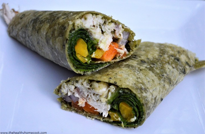 Grilled Chicken Pesto Wrap