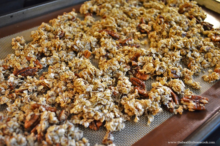 Inspired by your traditional banana nut bread, this recipe for Banana Nut Granola is a must make for the entire family.