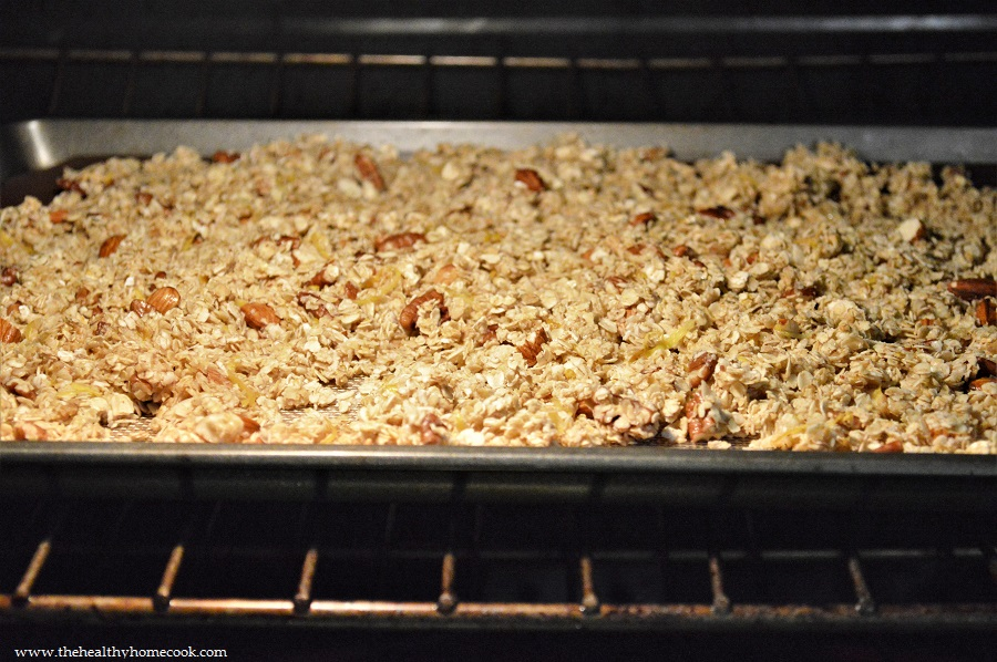 Crunchy, tangy and slightly salty, this Lemon Zest Granola will wake all your senses in the morning.