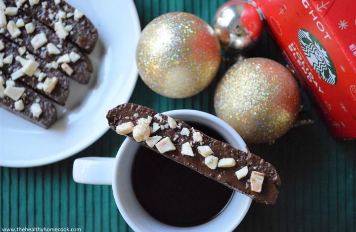 {Gluten Free} Holiday Chocolate Peppermint Biscotti