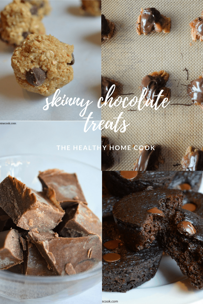Skinny Chocolate Treats just in time for Valentine's Day! by The Healthy Home Cook