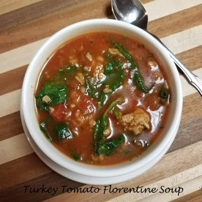 turkey tomato florentine soup