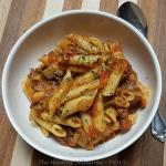 beefy tomato penne pasta