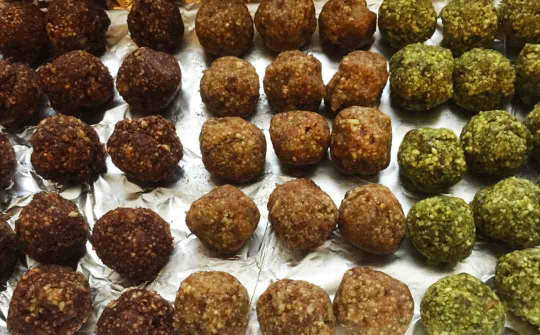 Date Bites 3-Ways: Brownie Batter, Snickerdoodle, and Matcha Green Tea