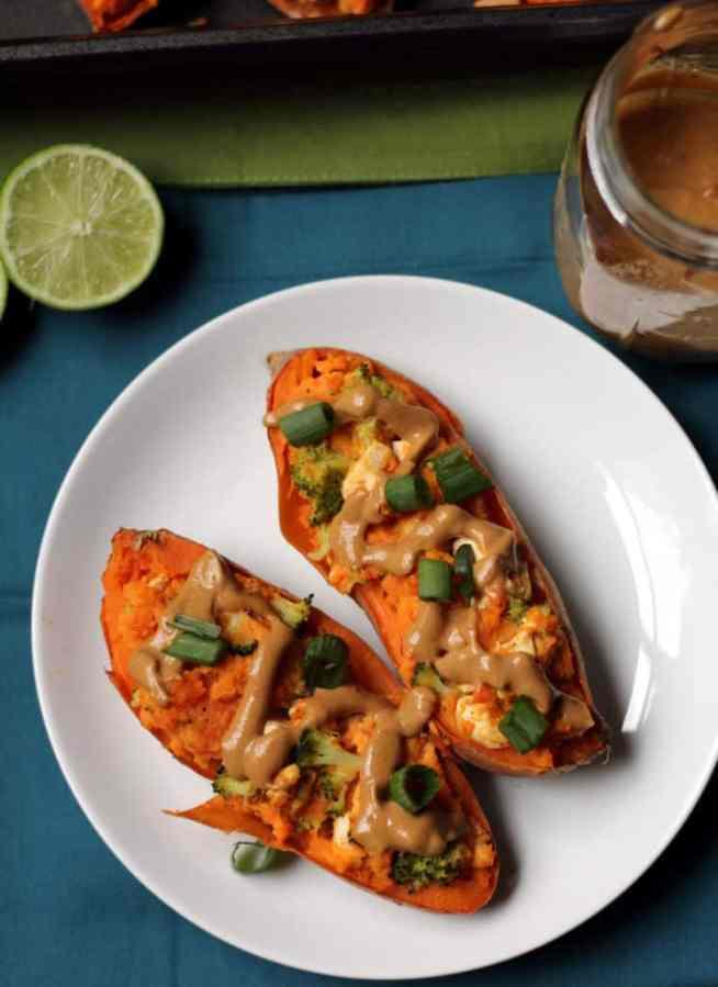 Thai Sweet Potatoes with Peanut Sauce