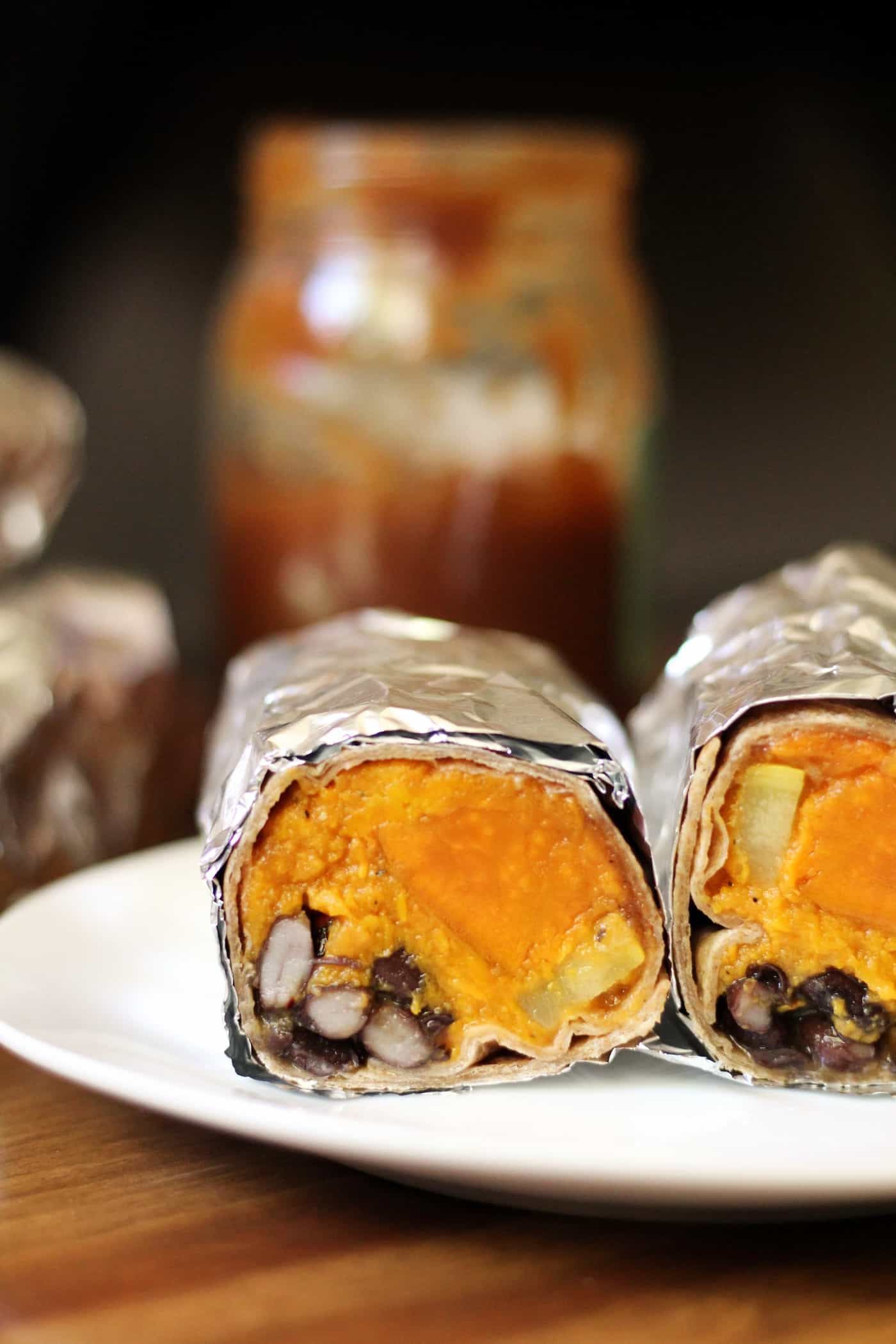 BBQ Sweet Potato Burritos