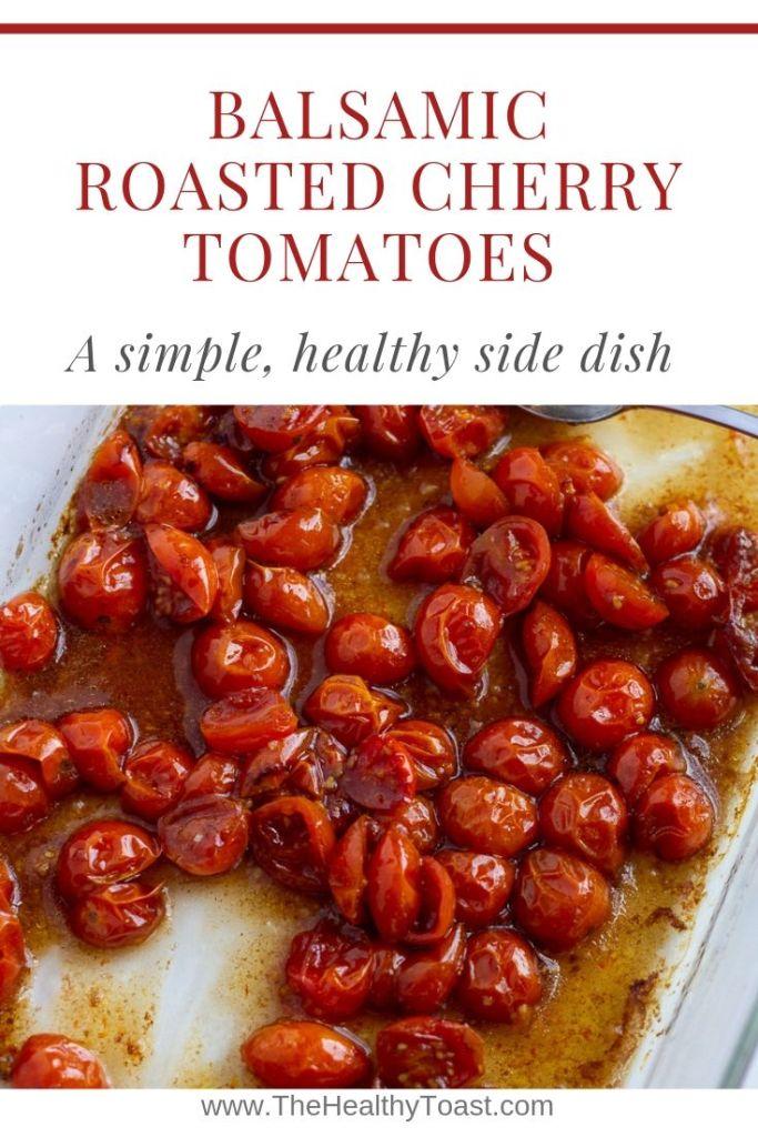 Balsamic roasted cherry tomatoes pinterest image