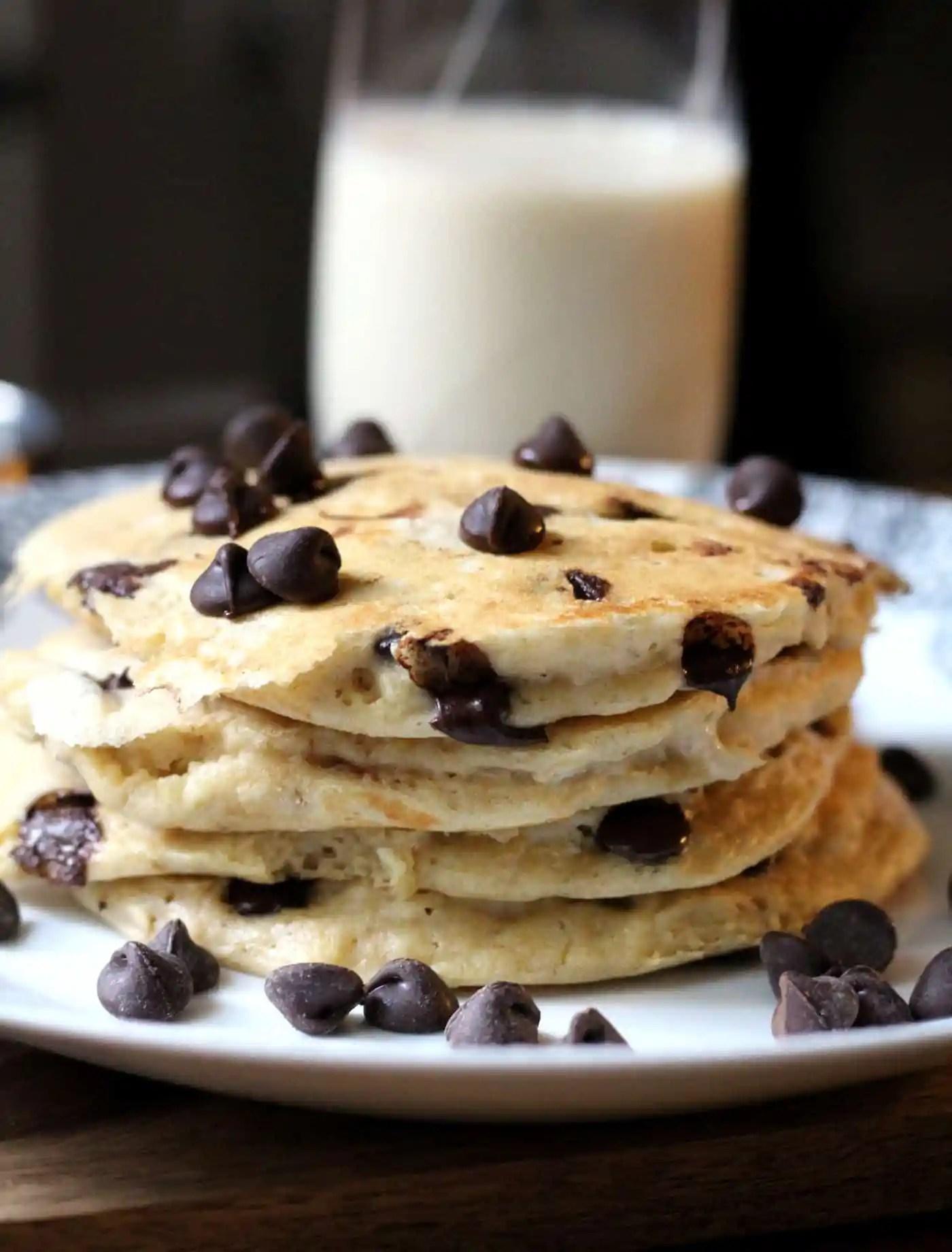 Whole Grain Chocolate Chip Pancakes