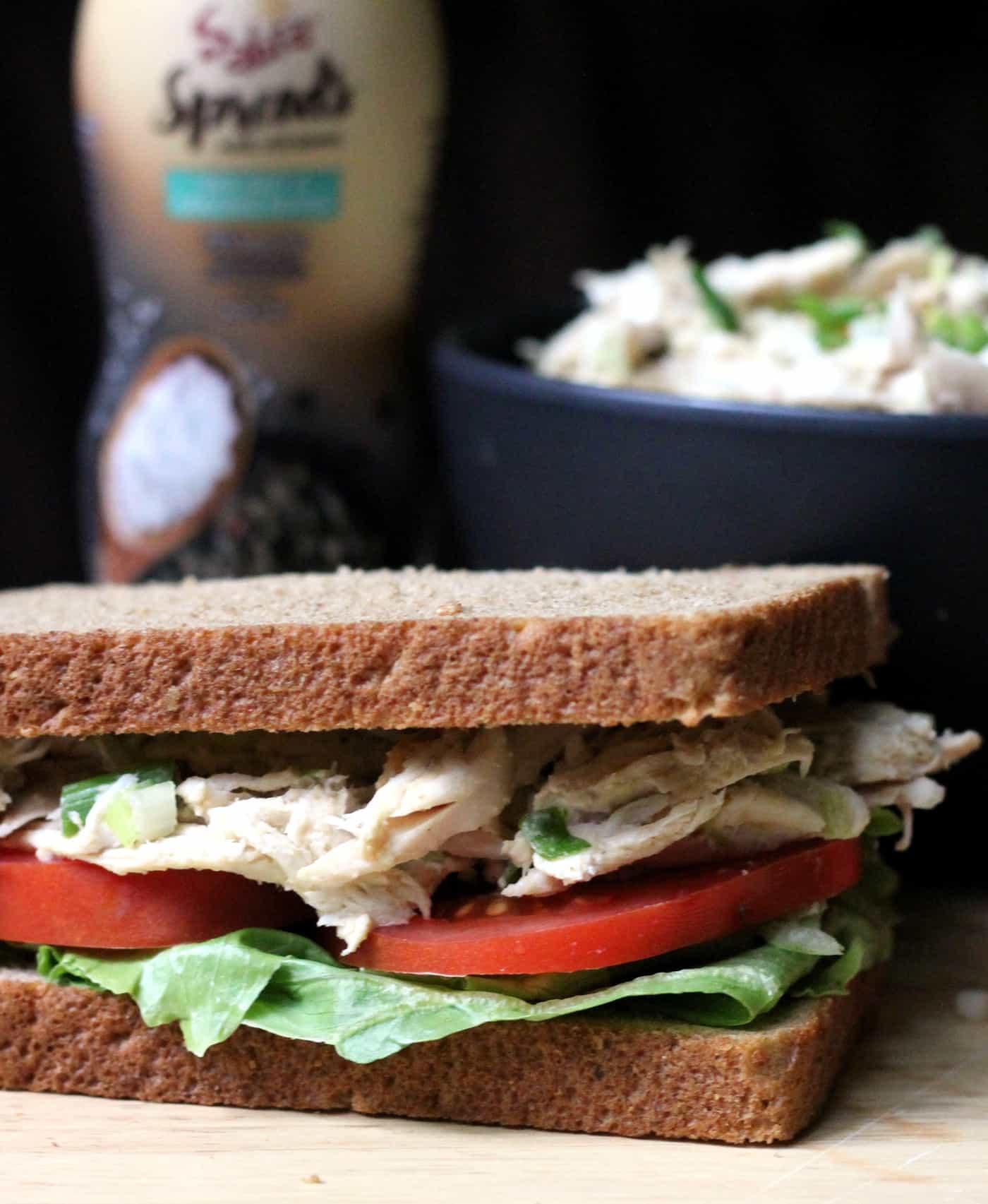 Quick & Easy Cracked Pepper Chicken Salad Sandwich