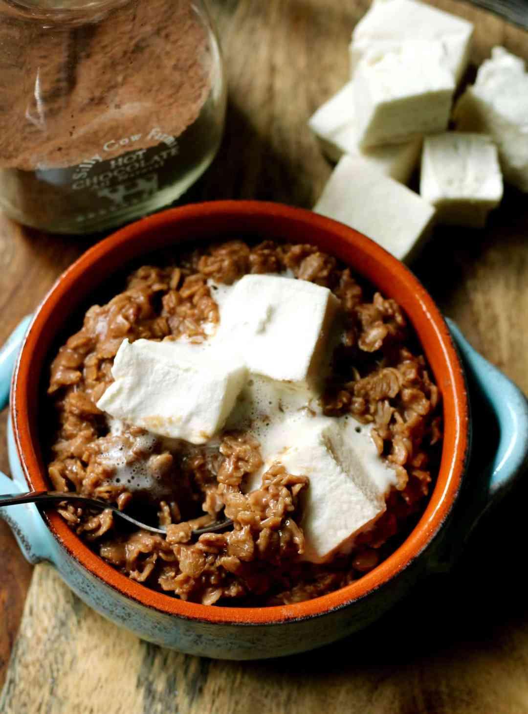 Hot Cocoa Oats   The Healthy Toast