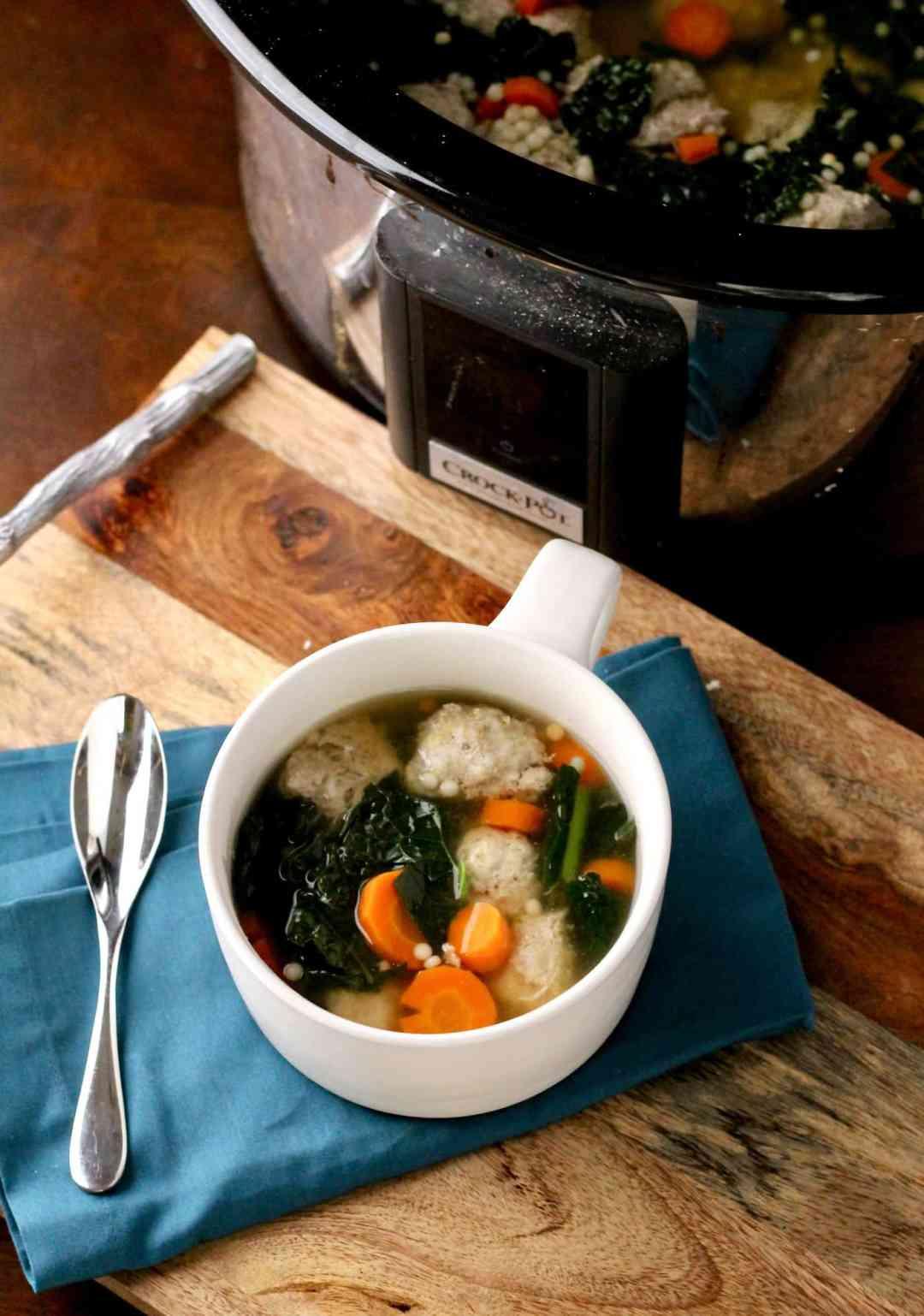 Healthier Italian Wedding Soup (Crockpot recipe) | The Healthy Toast