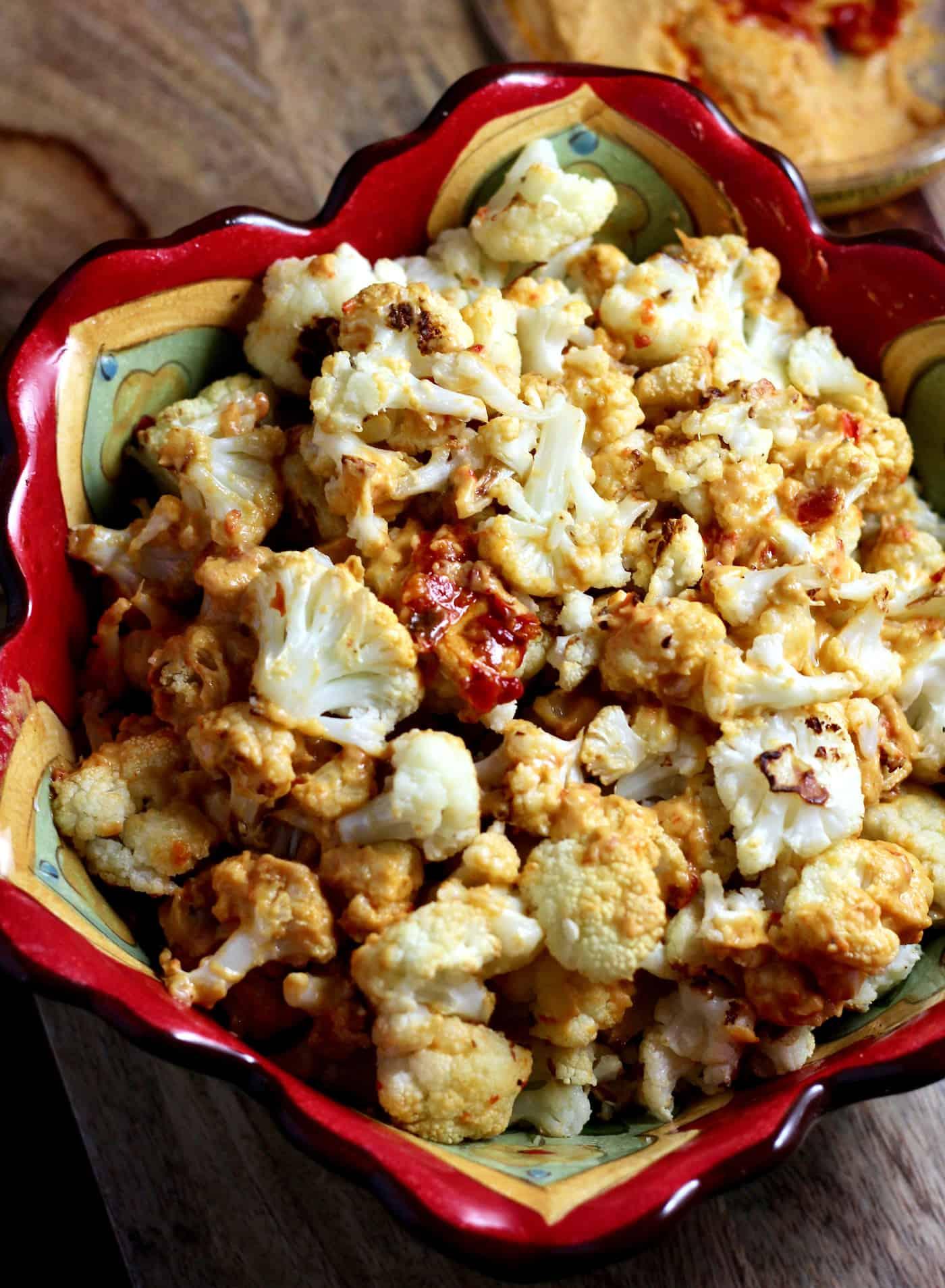 Roasted Cauliflower with Hummus