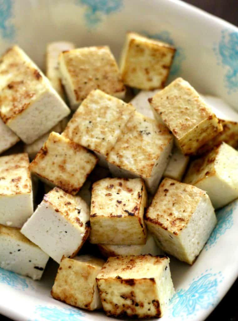 Browned tofu