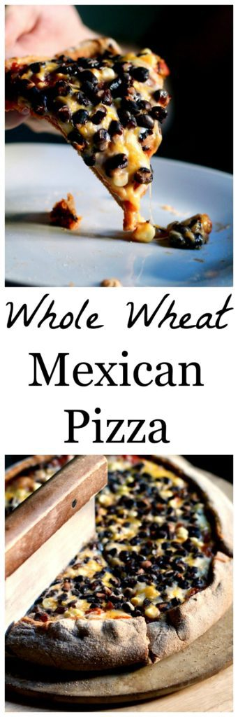 Whole wheat mexican pizza Pinterest image