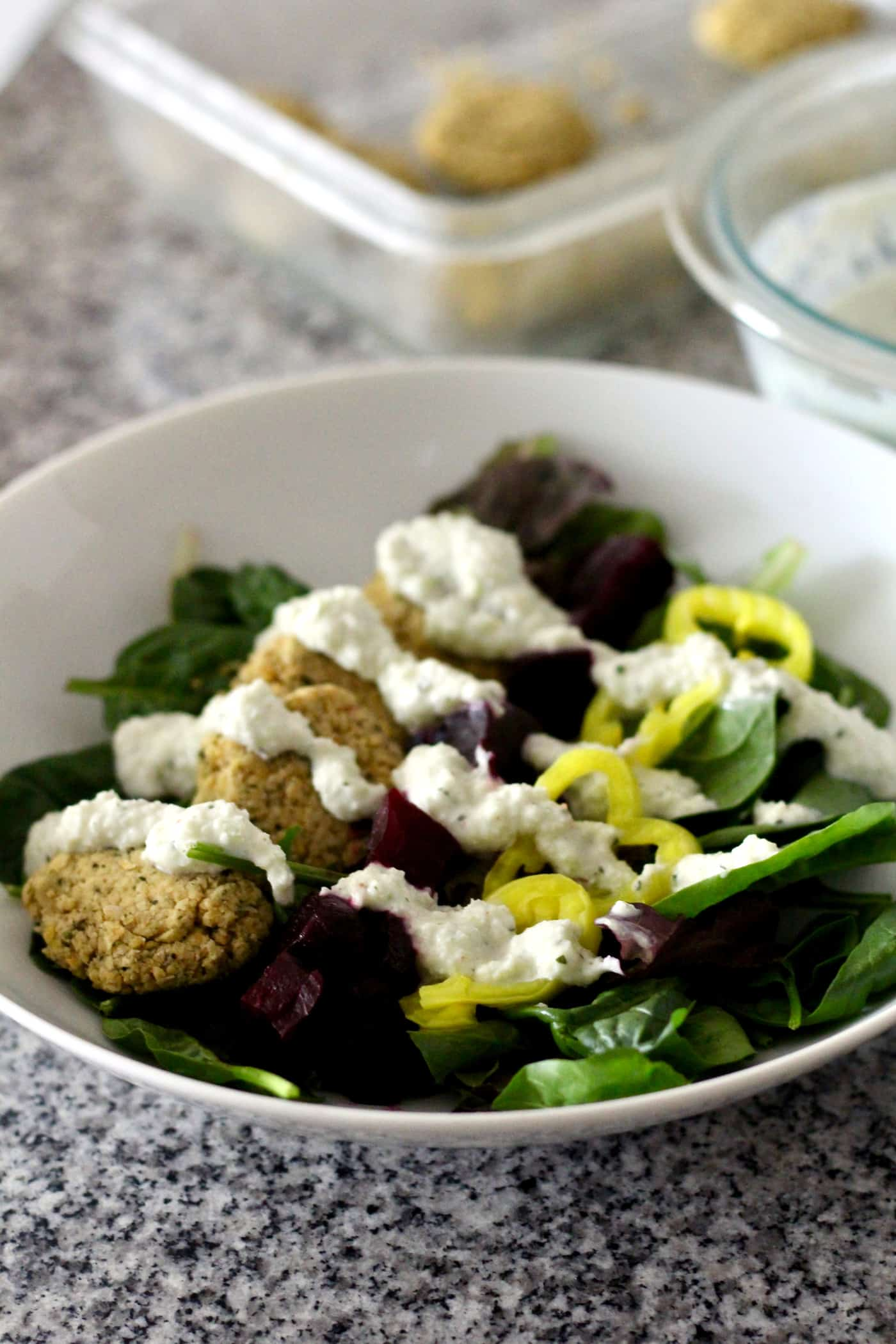Healthy Beet and Falafel Salad