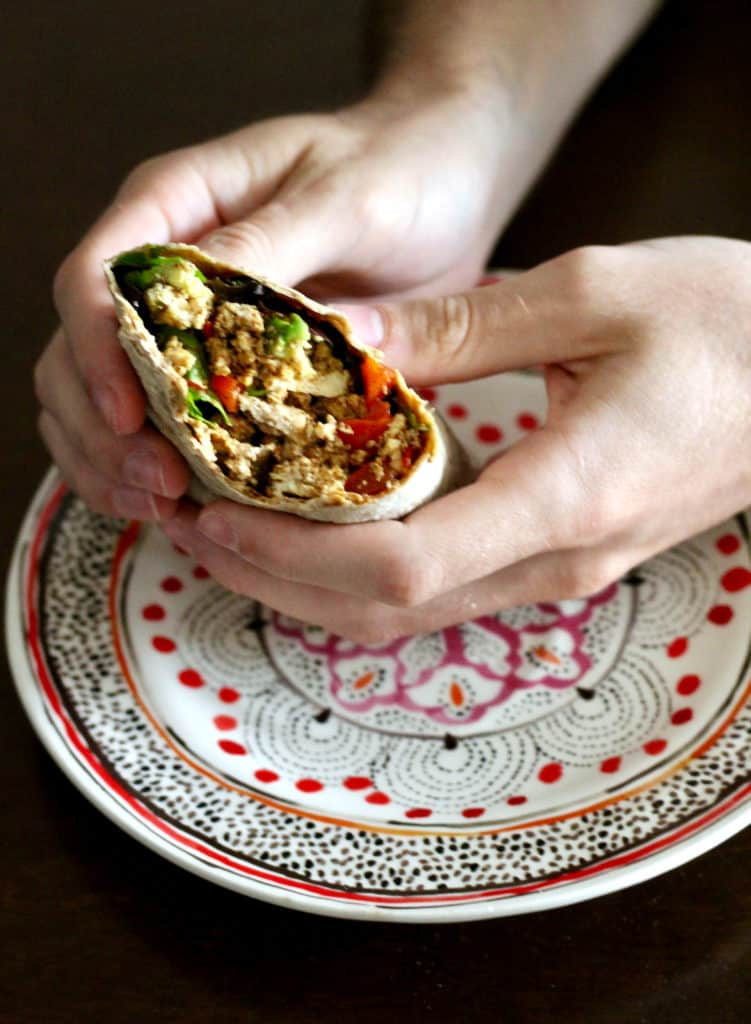 Fiesta Tofu Breakfast Wrap