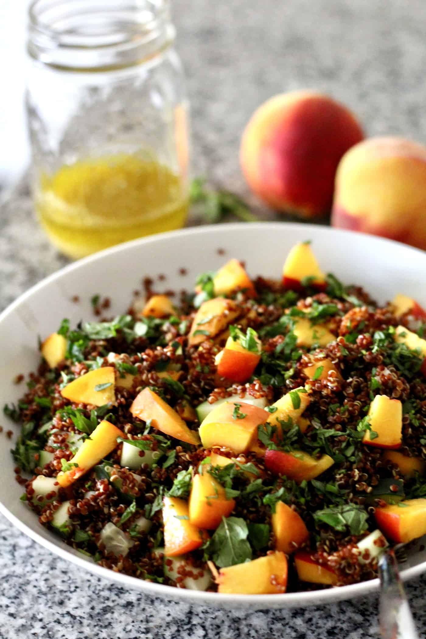 Mint Peach Quinoa Salad