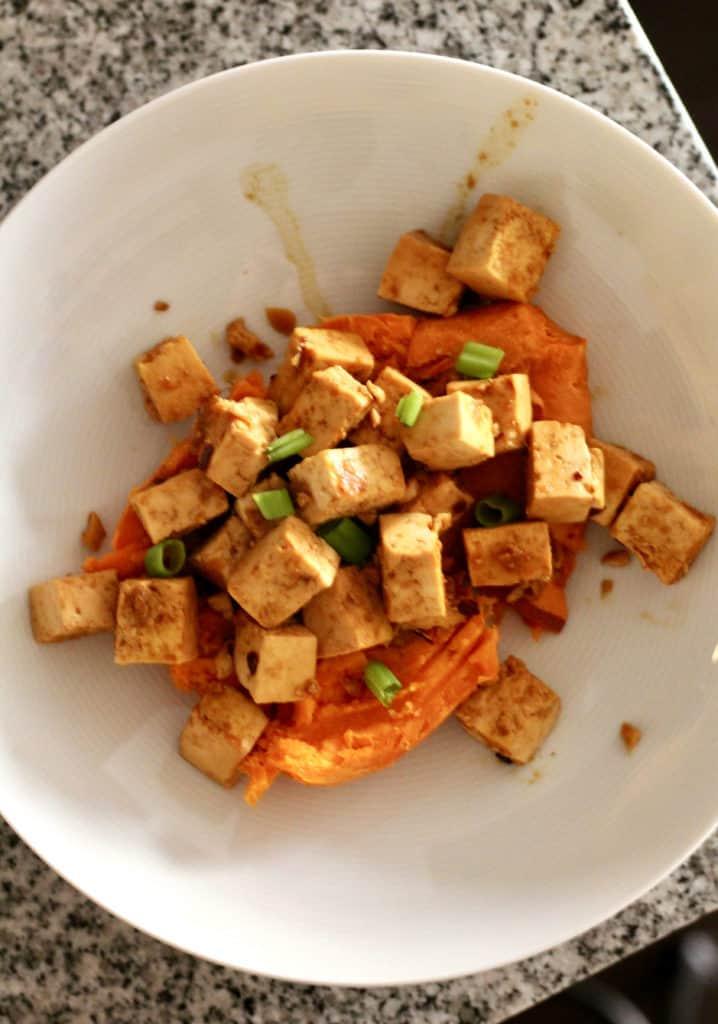 Pan-Seared Maple-Soy Tofu Sweet Potato Bowls