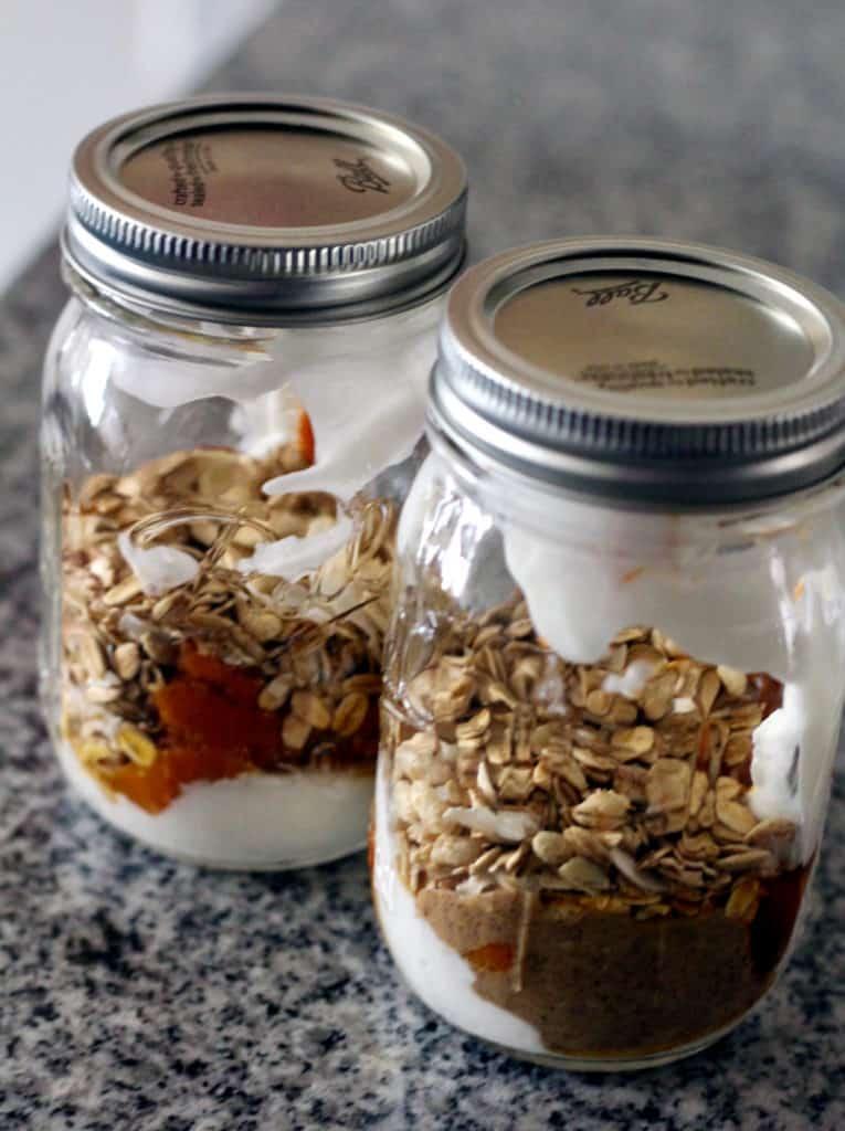 Almond butter granola pumpkin parfait