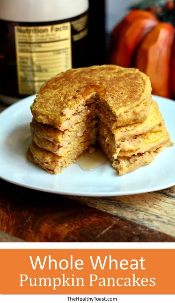 Whole Wheat Pumpkin Pancakes Pinterest Image